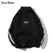 Una Reta sweat à capuche en coton pour hommes, Design rétro, style Hip Hop, broderie, haute qualité, Streetwear