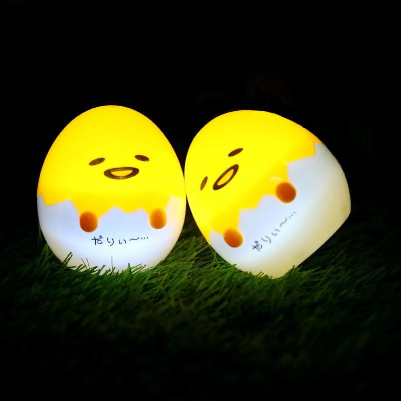 1piece Japanese Anime Gudetama Egg Light-Up Children Toy Lazy Egg Yolk Gudetama Sleep LED Night Light Cute Decorate Table Lamp