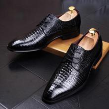 2018 Men New Genuine Leather Crocodile Grain Luxury Flat Mocassins Homens Leisure Shoe Brand Wedding Designer Fashion