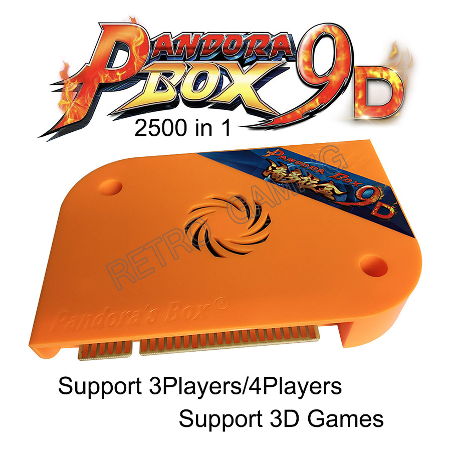 2019 Newest 3D Pandora Box 9D Arcade Version 2500 In 1 Original Jamma Game Board Support 3/4 Players USB Joystick With Puase