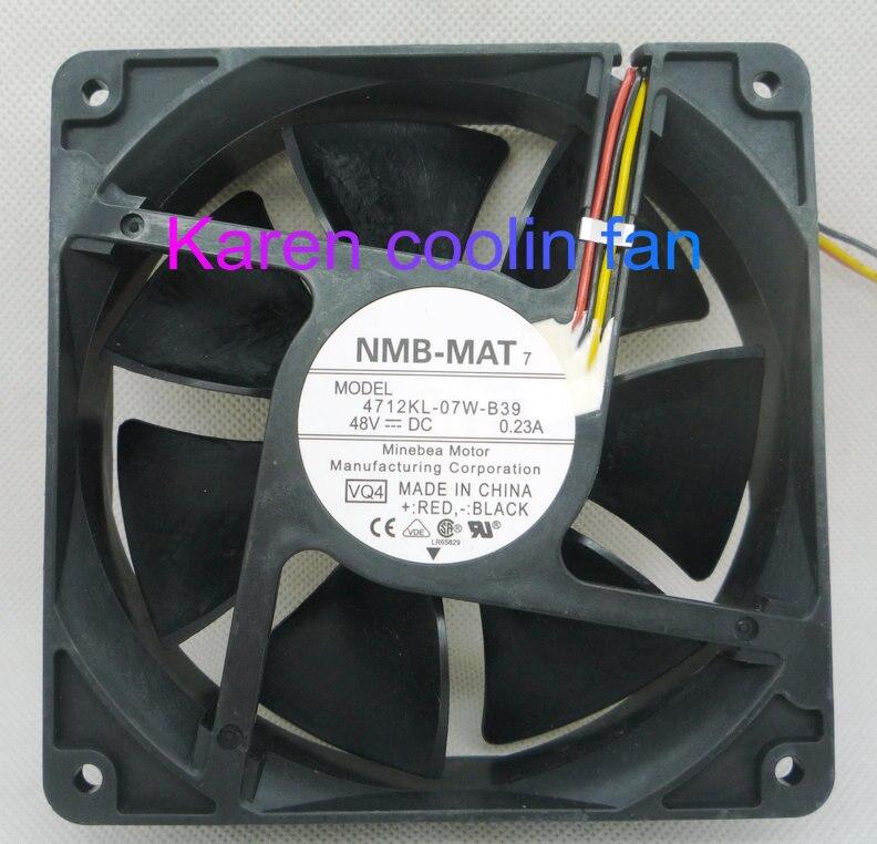 New original NMB 12CM 4712KL-07W-B39 12032 48V 3WIRE Cooling Fan renaissance sanya resort