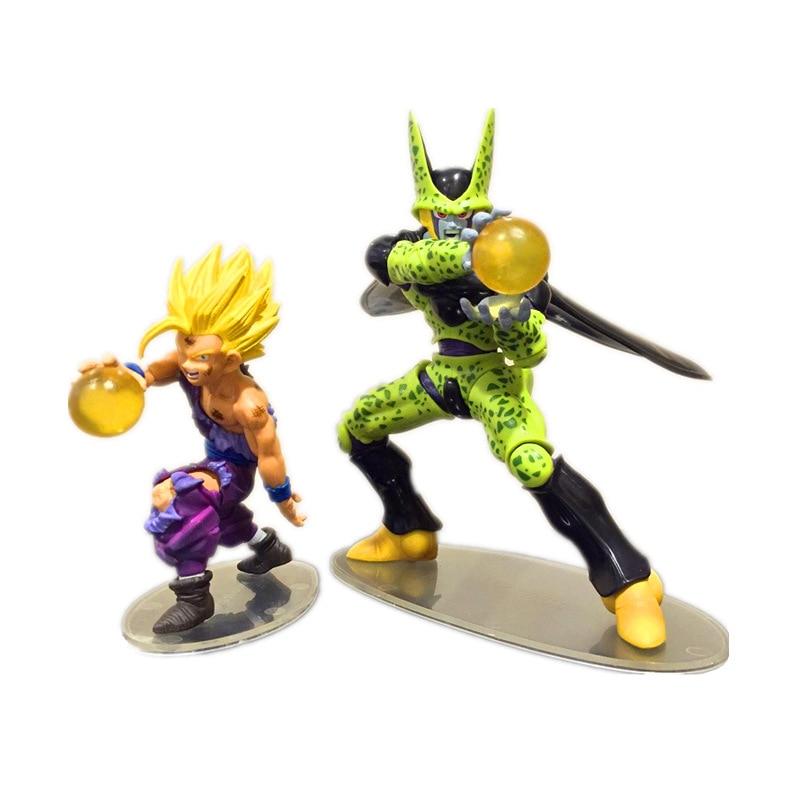 dragon ball z cell vs gohan action figurine toy set 2016. Black Bedroom Furniture Sets. Home Design Ideas