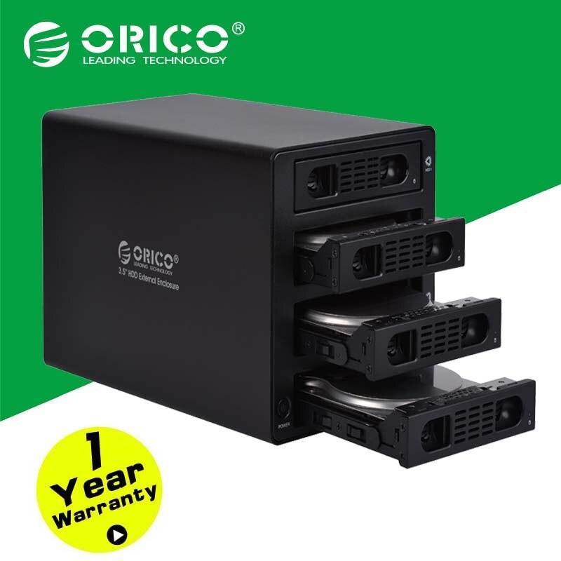 ORICO Tool Free Aluminum 4 Bay 3.5 SATA USB3.0 HDD External Docking Station RAID Function 4bay HDD Case( 3549RUS3 )-Black