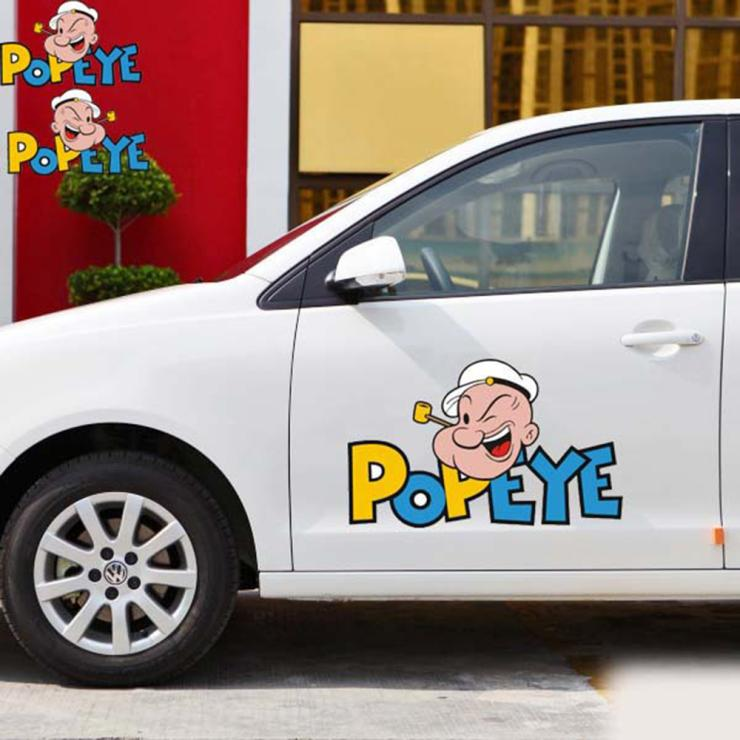 Aliauto Funny POPEYE car cover whole body car styling car stickers an Decals for Toyota Chevrolet Volkswagen golf polo Kia Lada