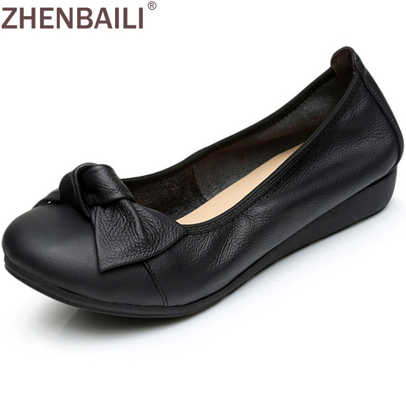 4 Colors 2017 Spring Autumn Fashion Women's Shoes Slip On Woman Genuine Leather Single Casual Flat Shoes Women Size 35-40 beyarne women shoes fashion pointed toe slip on flat shoes woman comfortable single casual flats spring autumn size 35 41 zapato
