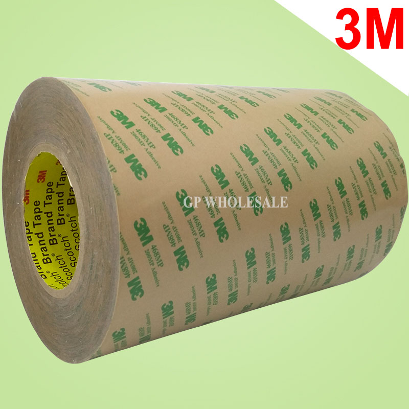 (160mm*55M*0.13mm) 3M 468MP 200MP Double Sided Adhesive Tape, High Temperature Resist 16cm width 3m 468mp 43mm 55m 0 13mm double sided adhesive tape 200mp metals paints wood bonding together for automotive appliance