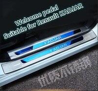 Karşılama pedalı uygun Renault KADJAR için dekorasyon 17-18KADJAR paslanmaz çelik karşılama pedalı takma