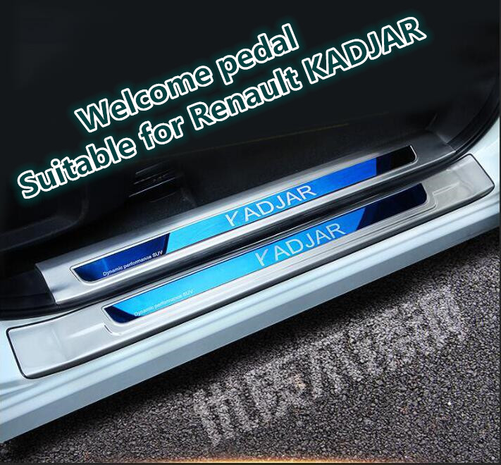 Welcome pedal Suitable for Renault KADJAR Decoration for 17 18KADJAR Stainless Steel Welcome pedal refitting Pedals     - title=