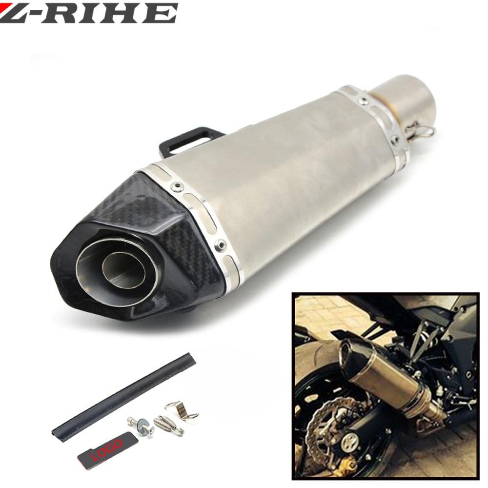 универсальный мотоцикл глушитель углеродного волокна модифицированных выхлопных газов для Honda cb400 системой VTEC CB1300 Шершень 600 CBR600RR F5 и F4 и f4i CB300F