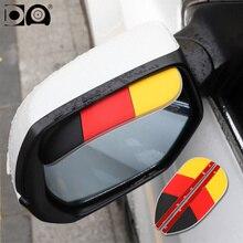 2 pieces Car rearview mirror rain shade eyebrow National flag cartoon design mini umbrella Universal waterproof soft gum cover