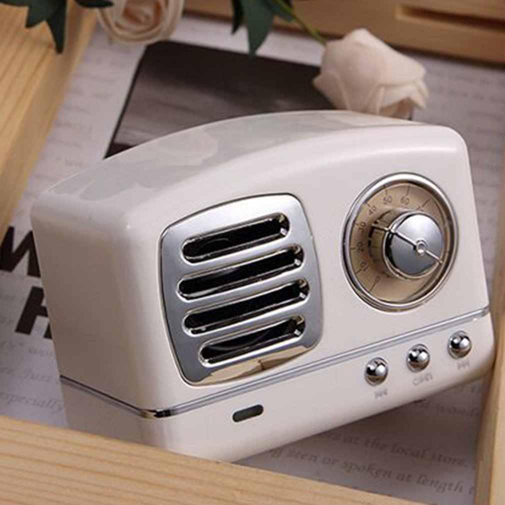 Altavoz exquisito portátil Retro Mini portátil inalámbrico exquisito Radio USB/TF Tarjeta de música reproductor HIFI Subwoofer altavoz