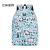 CIKER Canvas Backpack Cute Women Panda Printing Backpacks for Teenagers Girls Women's Travel Bags Mochilas Rucksack School Bags
