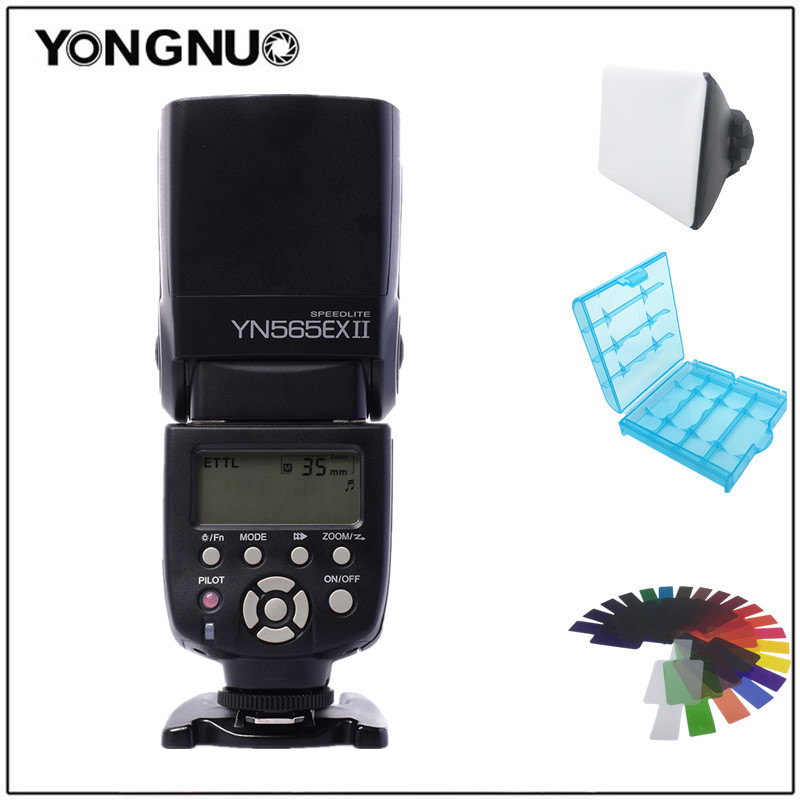 Yongnuo Wireless TTL Flash Speedlight YN-565EX II for Canon 6D 60d 650d YN565EX For Nikon D7100 D3300 D7200 D5200 D7000 D750 D90