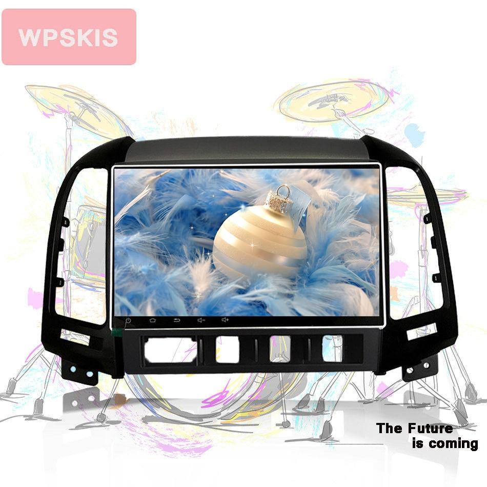 Octa CORE android 9 0 car dvd gps player 1024 600 For HYUNDAI SANTA FE santafe