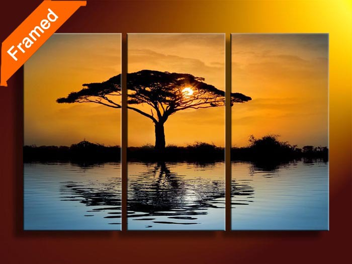 Home decoration 3 piece canvas wall art for living room tree painting on the wall pictures reproduction oil paintingHome decoration 3 piece canvas wall art for living room tree painting on the wall pictures reproduction oil painting