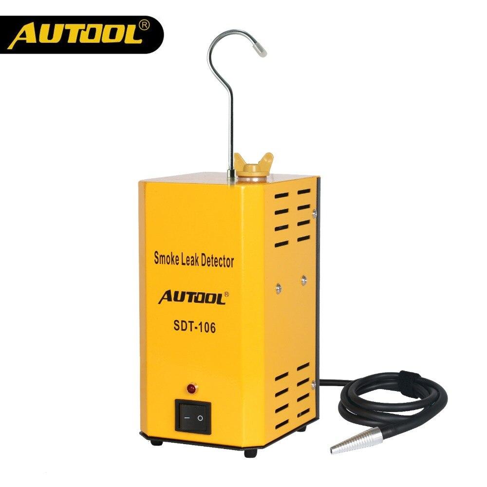 AUTOOL SDT106 Voiture Fumée Analyseurs Machine EVAP Fuite Locator Système Détecteur de Fuite de Gaz Automatique Tuyau D'huile Outil De Diagnostic SDT-106