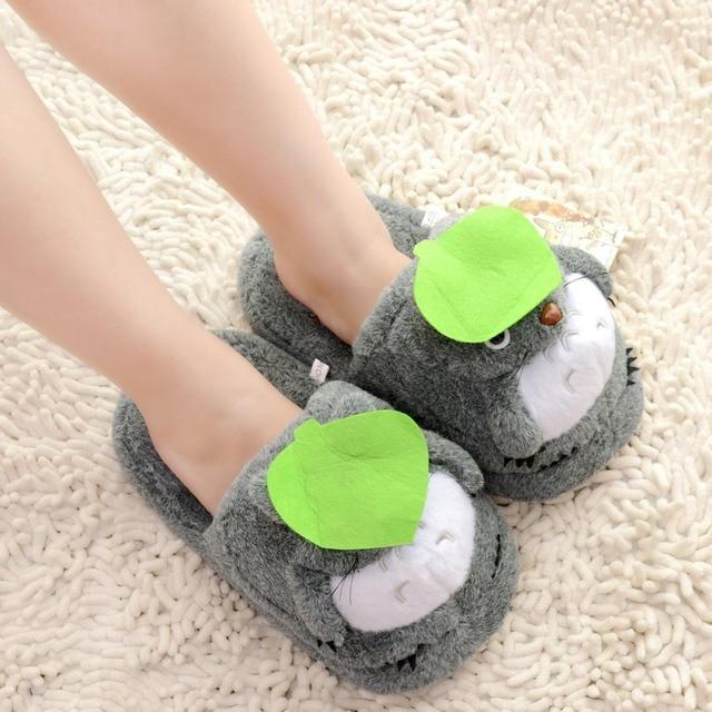 78cc8619988c5 Plush Deep Gray Totoro Slippers Girls Women Indoor Carpet Warm. Asics Mens  Gel Dedicate 5 Indoor Carpet Tennis Shoes ...