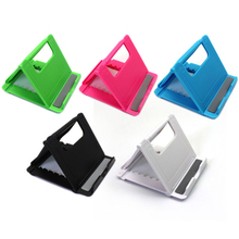 Universal Folding Mobile Phone Tablet PC Holder Plastic Adjustable Stand For Apple For Android Smart Phones Support Phone Holder creative f1 racing car style adjustable support holder for mobile phones green