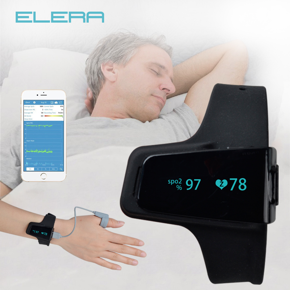 ELERA Pulse Oximeter Watch Bluetooth Smart Wrist Portable OLED Sleep apnea Monitor Insomnia Heart Beat Finger
