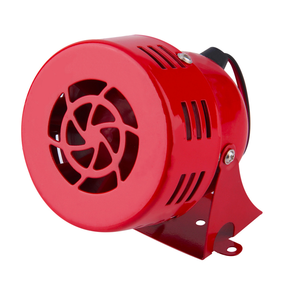 New Red 12V Automotive Air Raid Siren Horn Car Truck Motor Driven Alarm Hot Selling red high quality 12v 3 automotive air raid siren horn car truck motor driven alarm red siren alarm with retail box