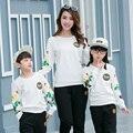 La familia a juego trajes madre e hija ropa ropa de la familia padre e hijo ropa mamá y el bebé ropa Casual Tops AL11