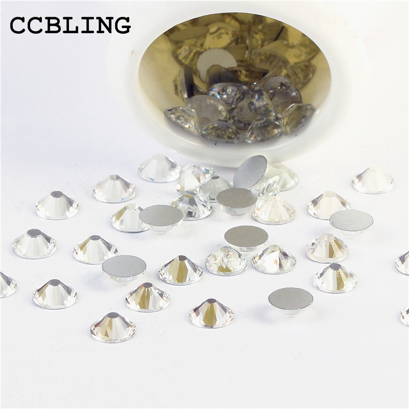 CCBLING Sale! Super Shiny SS3-ss40 Bag Clear Crystal color 3D Non HotFix FlatBack Nail Art Decorations Flatback Rhinestones ccbling super shiny ss3 ss40 bag clear crystal ab color 3d non hotfix flatback nail art decorations flatback rhinestones