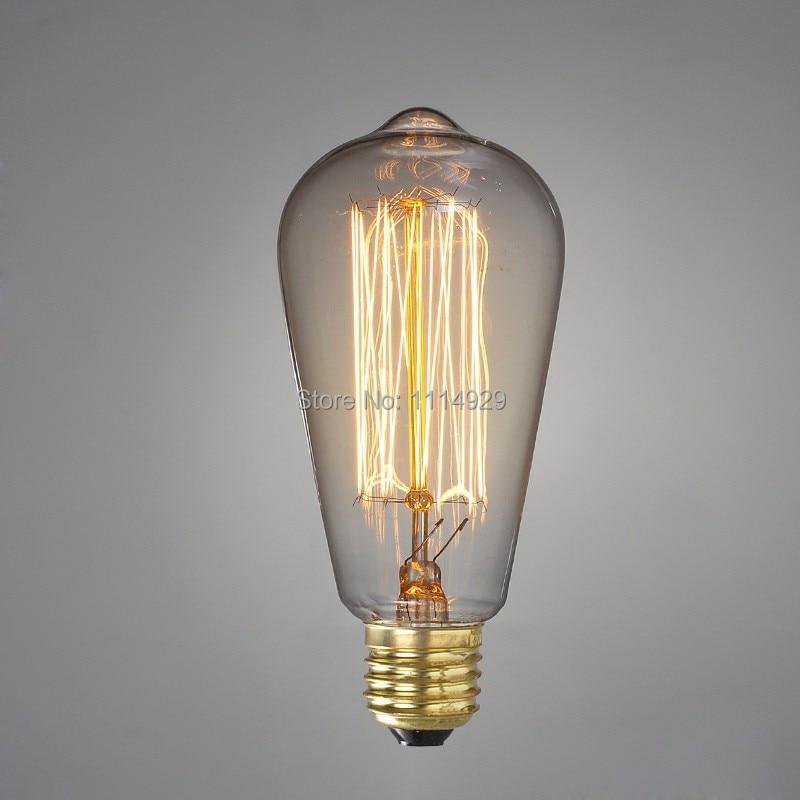 4pcs vintage edison light bulbs home decoration lighting e27 40w st64 120v220v bulbs - Vintage Light Bulbs