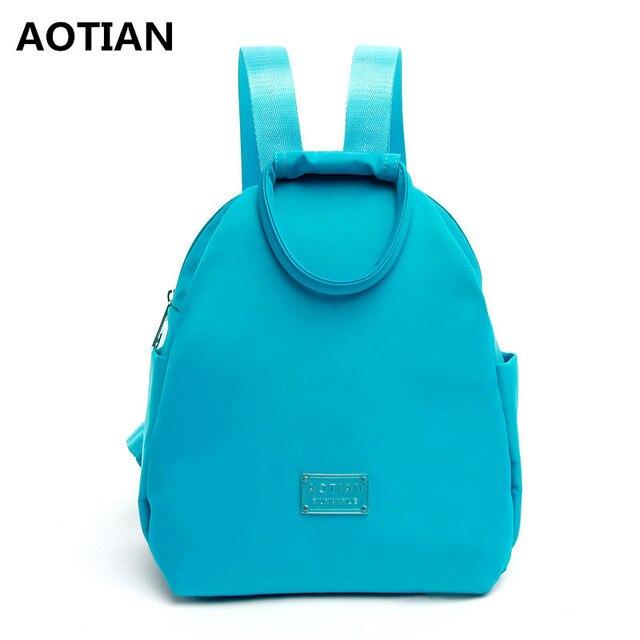 AOTIAN Blue Waterproof Nylon Backpacks Travel Bags Cheap Backpack Female  Children School Bag Backpacks For Adolescent Girls 779eb536a50f