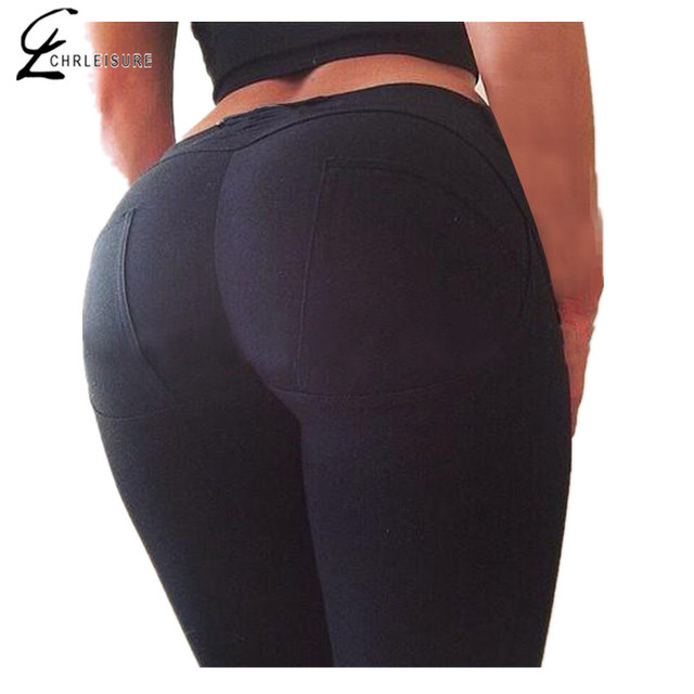 S-XL 5 Colors Women's Casual Leggings Push Up Elastic Slim Leggings Comfortable Super Stretch Mid Waist Ankle-Length Leggings