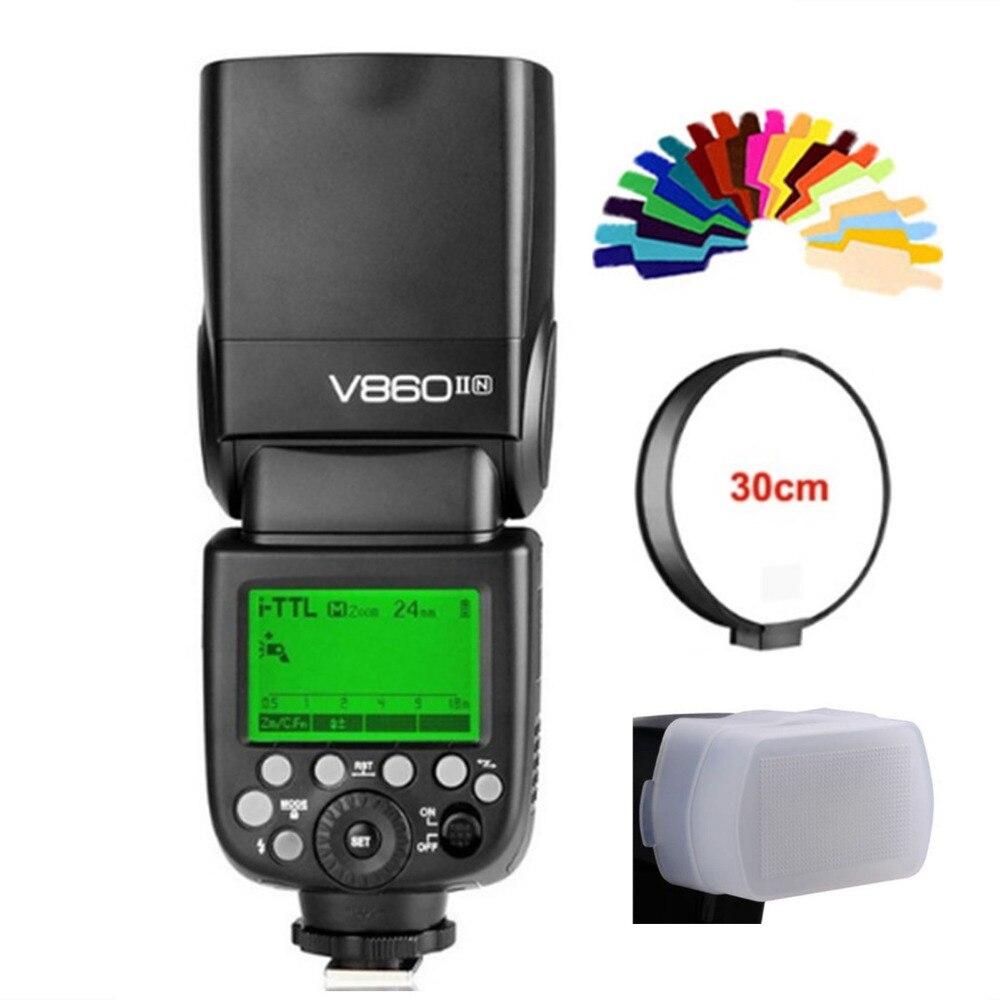 V860II-N i-TTL HSS 1/8000s Li-ion Battery Speedlite Flash for Nikon D5600 D5500 D810A D810 D800 D750 D700 D610 D600 D500 D5 D4 meike mk d750 battery grip pack for nikon d750 dslr camera replacement mb d16 as en el15 battery
