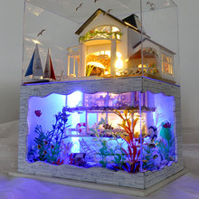 DIY кукольный домик DIY игрушка дом сборка Led игрушки домик подарки мебель детские подарки DIY Дом украшения модель развивающая игрушка