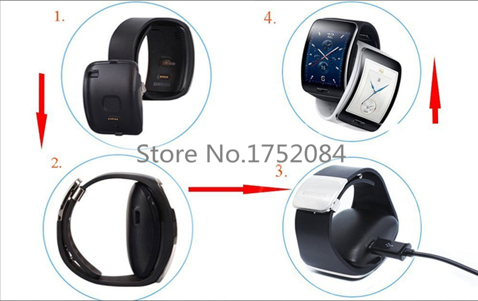 Portable USB Power Supply Charging Cradle Holder Dock Charger For Samsung Galaxy Gear Charger S Smart Watch R750 Charger