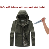 Self Defense Anti Cutting Stab resistant men jacket, flexible hacking invisible Military tactics police Fbi protective Clothing