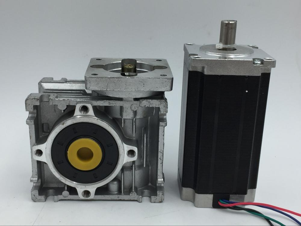 Gear Ratio 20:1 Nema23 Worm Geared Stepper Motor L112mm 4.2A 4 Leads 2phase Hybrid Stepper Motor for CNC Router
