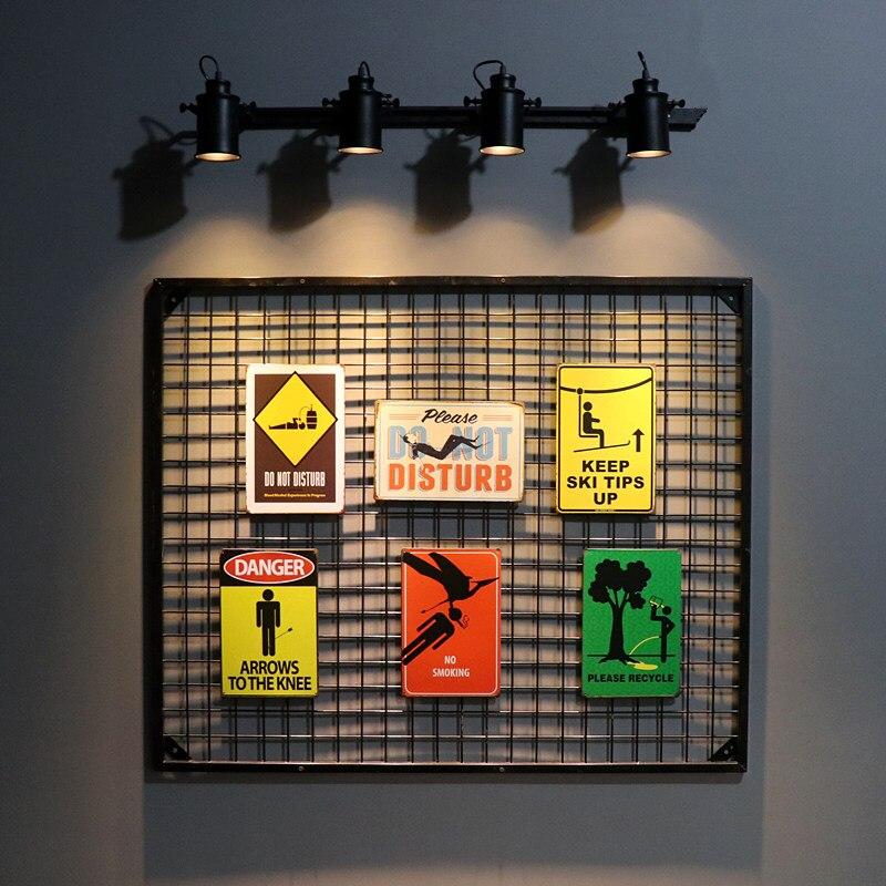 DL-ретро металл плакат предупреждающие знаки опасность Знак подарок паб настенная доска Книги по искусству живопись Бар Craft Декор
