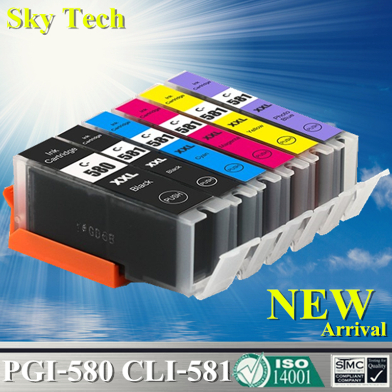 Compatible Ink Cartridges For PGI580 CLI581 , PGI-580 CLI-581 For Canon Pixma TR7550 TR8550 TS6150 TS8150 TS9150 TS9155 etc 5pk pgi580 cli581 compatible ink cartridge for canon 580 581 suit for tr7550 tr8550 ts6150 ts6151 ts8150 ts9155 printer