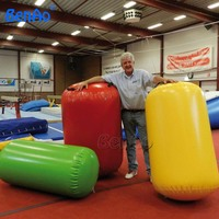 GA056 Free shipping 90cm diamete inflatable gymnastics air mat/barrel,air gym equipment inflatable air track/roller for one pc