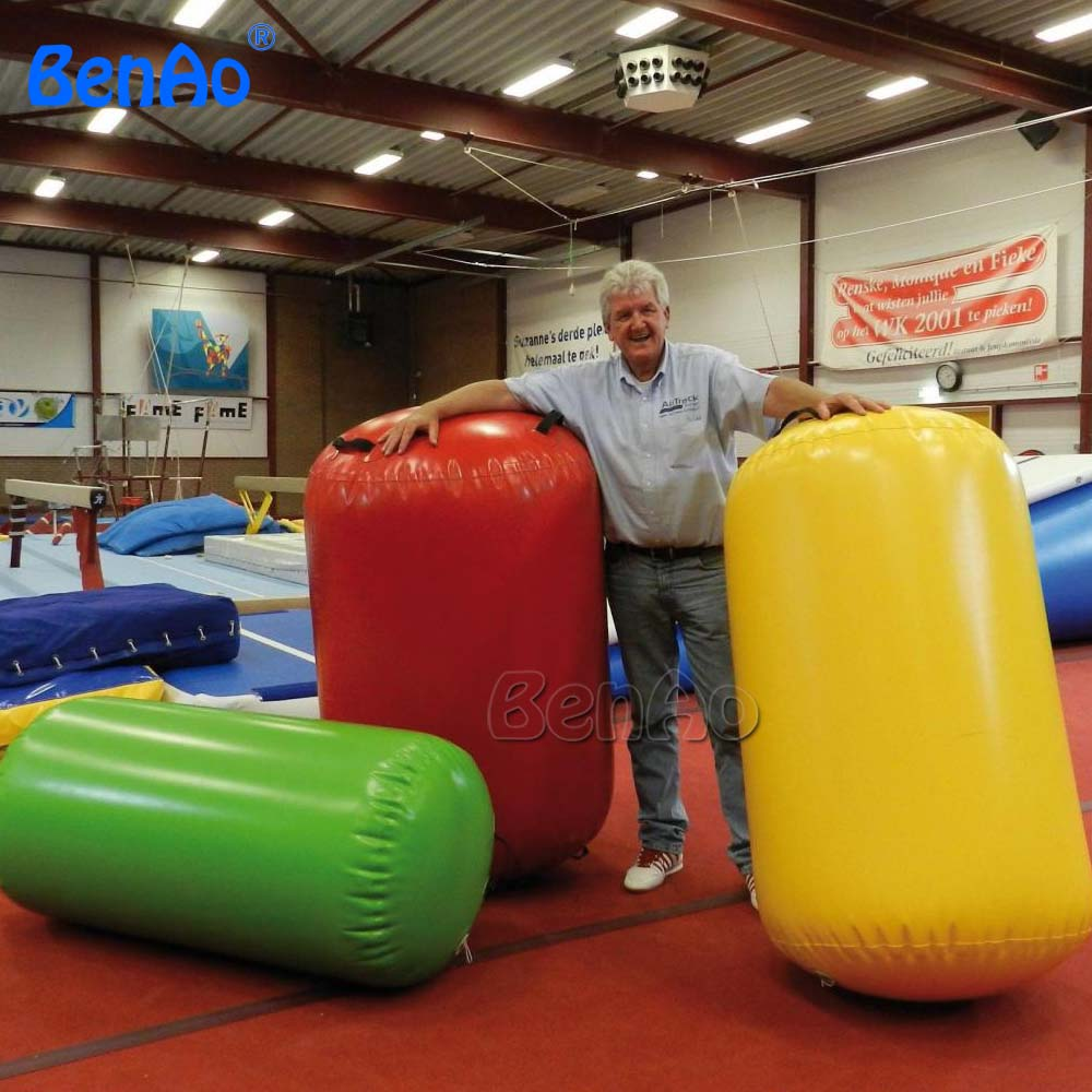GA057 Free shipping 90cm diamete inflatable gymnastics air mat/barrel,air gym equipment inflatable air track/roller for one pc free shipping 6 2m inflatable gym air track inflatable air track gymnastics