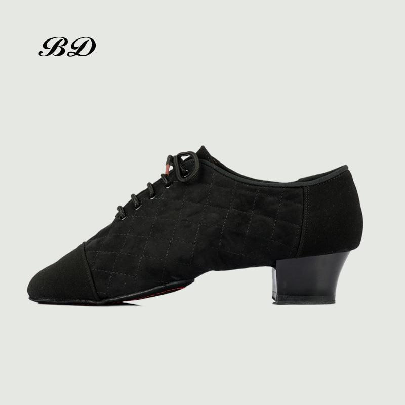 BD 456 chaussures de danse chaussures latines salon hommes chaussure moderne JAZZ Profession jeu Sweat intérieur déodorant talon 4.5 CM treillis semelle souple