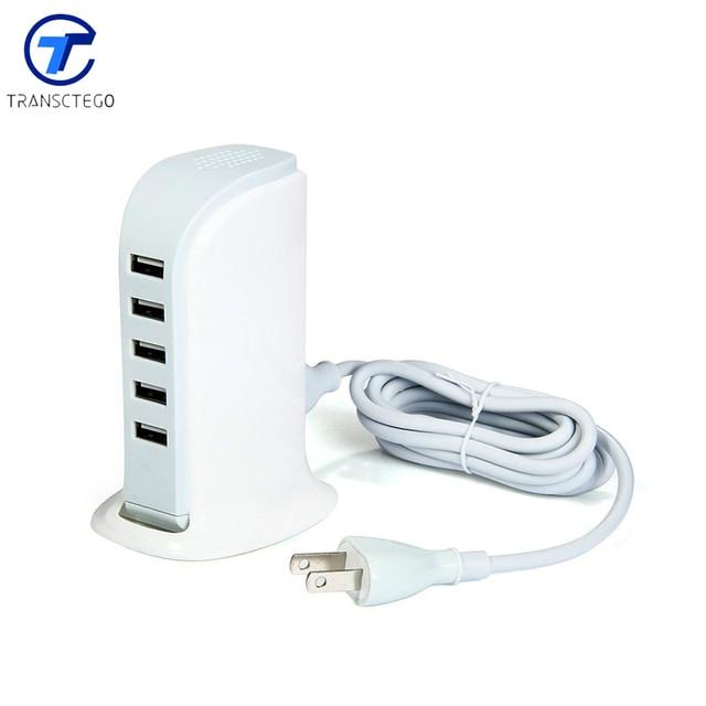 Cargador de 5 puertos USB 5 V enchufe vertical multi Adaptador de viaje multifuncional de Carga Rápida $ number Puertos Hub USB de Escritorio/Estación de carga