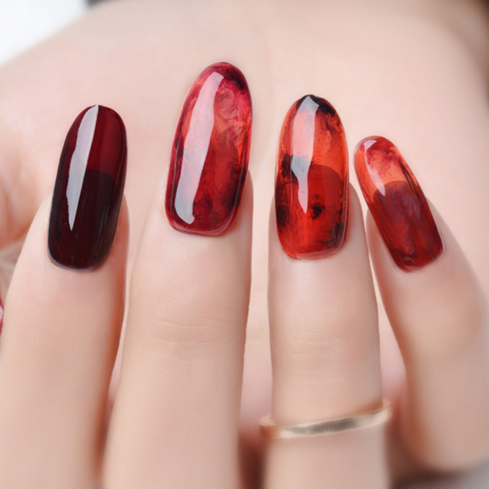 newest nail art transparent clear camouflage color fibre glass hard ...