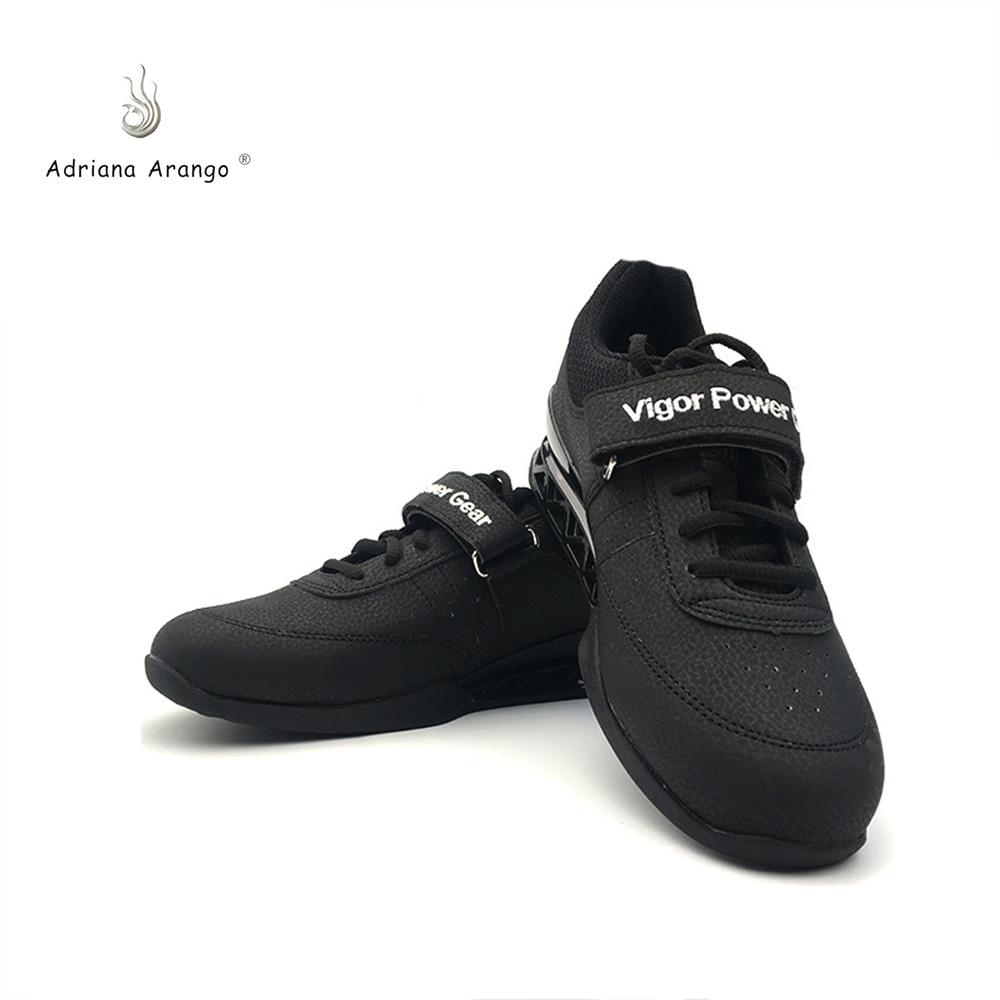 b08707653 Adriana 2019 de Alta Qualidade de Couro Profissionais Sapatos De  Halterofilismo Treinamento de Agachamento Anti Antiderrapante