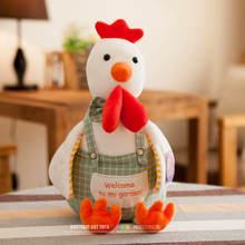 """""""welcome to my garden"""" cock chicken plush toy lovely chicken soft doll,baby toy ,birthday present Xmas gift c684"""