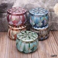 Ретро круглая жестяная коробка, банка для чая, конфет, ювелирная монета, контейнер для хранения, чехол для свечей, герметичный держатель для банок, подарок, May06