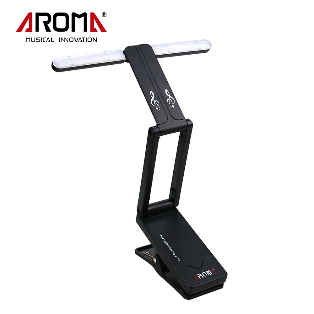 Aroma Portable Clip-on USB Rechargeable LED Music Stand Lamp AL-1 For Guitar Piano Comfortable Reading ...