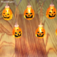 Feimefeiyou Battery Power Little Pumpkin Style Led Fairy String Light For Halloween Christmas Party Outdoor Decorations