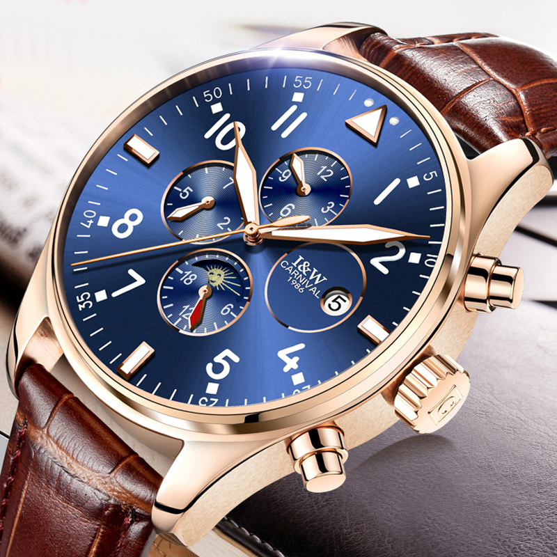 Carnival Brand Luxury Mens Watches Automatic Mechanical Watch Men Sapphire reloj hombre Luminous relogio Wristwatch C8764G-2Carnival Brand Luxury Mens Watches Automatic Mechanical Watch Men Sapphire reloj hombre Luminous relogio Wristwatch C8764G-2