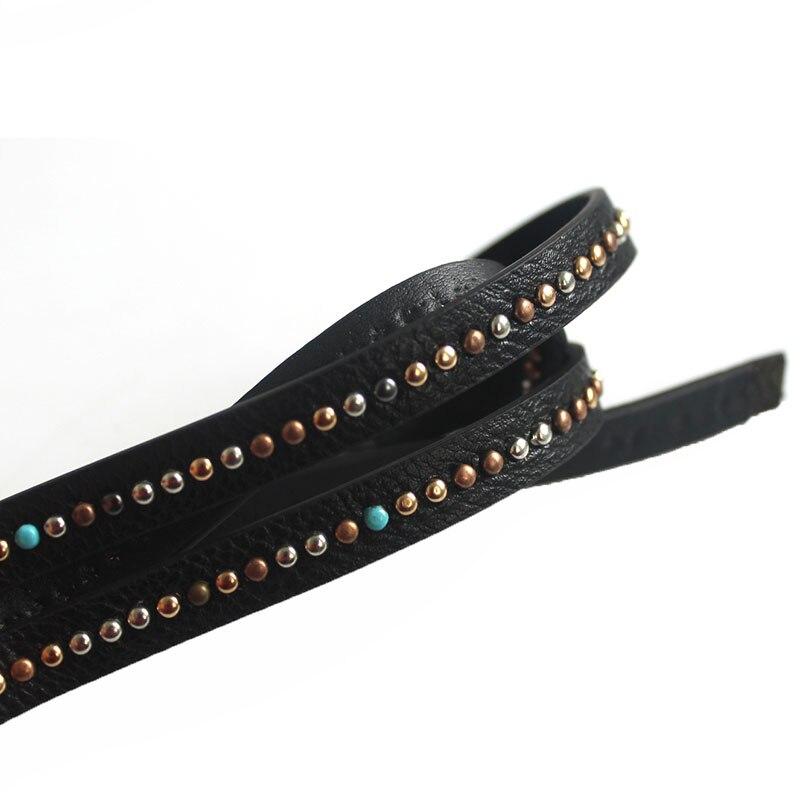 1 м Модные украшения заклепки алмаз кожаный шнур ювелирных нахождения для 10 мм 5 мм DIY Браслеты Цепочки и ожерелья ювелирных изделий