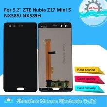 """5.2 """"oryginalny M & Sen dla ZTE Nubia Z17 Mini S NX589J ekran LCD + ekran dotykowy Panel Digitizer dla Z17 MiniS NX589H wyświetlacz"""