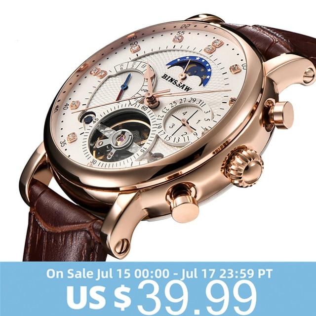 Homens Relógio Turbilhão Mecânico ESCARAVELHO Homem Esporte Relógios de Couro Marca De Moda de Luxo Mens Automatic Assista Relogio masculino